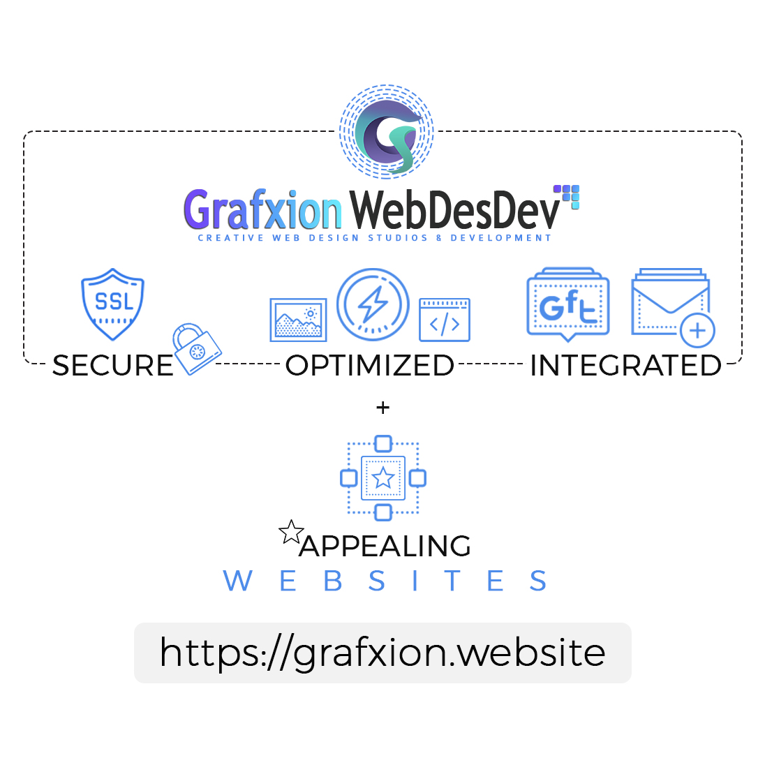 Grafxion WebDesDev Secure Optimized Integrated Appealing Website Design
