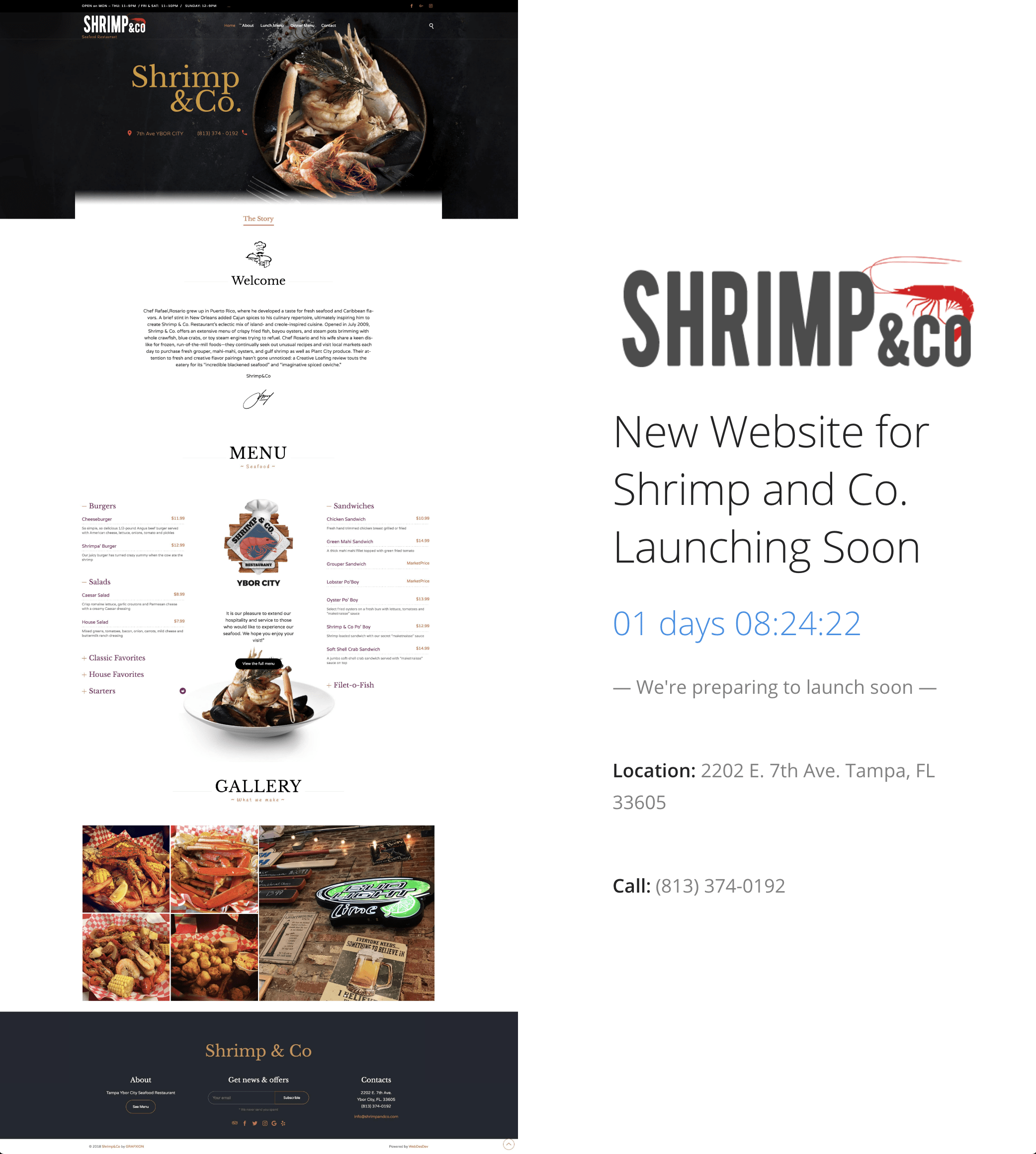 Shrimp and Co New Website Coming soon
